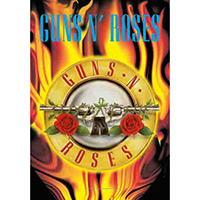 Guns N Roses- Flames And Logo Fabric Poster/Wall Tapestry