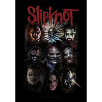 Slipknot- Faces Fabric Poster/Wall Tapestry