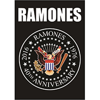 Ramones- 40th Anniversary Seal Fabric Poster/Wall Tapestry