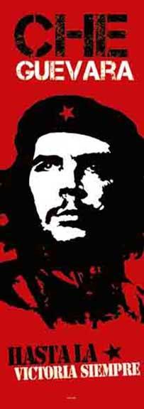 Che Guevara- Hasta La Victoria Siempre Fabric Door Poster (Sale price!)