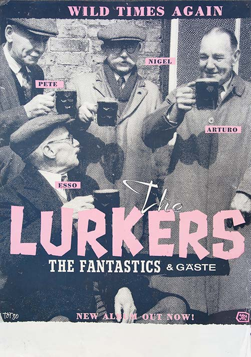 The Lurkers Album Promo 1988 Wild Times Again Poster - Fine Art Print by Annex