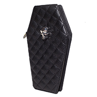 Elvira Coffin Wallet / Clutch by Lux De Ville - Black Matte