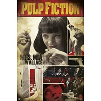 Pulp Fiction- Uma Collage Poster
