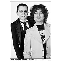 Dave Vanian & Marc Bolan 1977 (Damned & T Rex) Poster (C11)