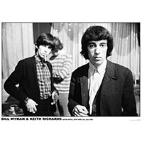 Rolling Stones- Bill & Keith 1964 poster