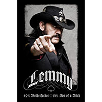 Lemmy (Motorhead)- 49% Motherfucker poster (D6)