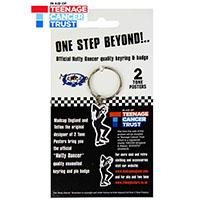 One Step Beyond Nutty Dancer Ska Enamel Pin & Keychain Set by Madcap England