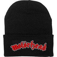 Motorhead- Red Logo on a black beanie