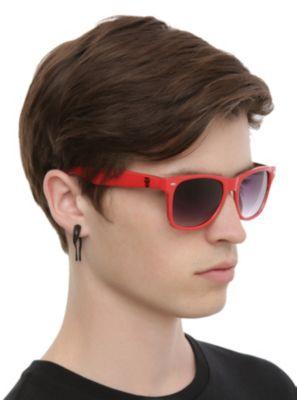 Misfits- Logo & Skulls Sunglasses- RED