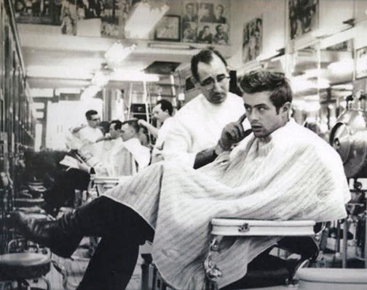 James Dean Missed A Spot Fine Art Barber Print By Annex