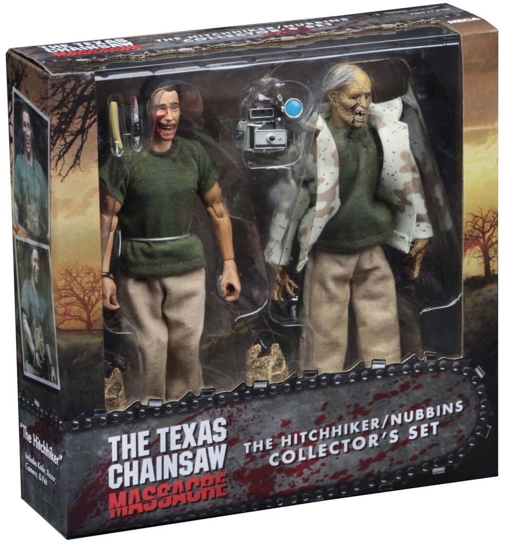 "Texas Chainsaw Massacre- The Hitchhiker/Nubbins 2 Pack 8"" Collectors Set"