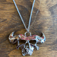 Danzig Skull Necklace by Switchblade Stiletto - Thin Chain