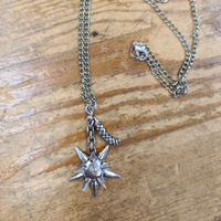 Flail Stainless Steel Sword Necklace by Switchblade Stiletto
