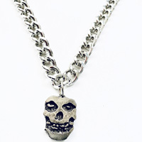 Ghost Skull Necklace by Switchblade Stiletto - Thick Chain