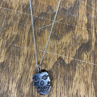 Ghost Skull Necklace by Switchblade Stiletto - Thin Chain