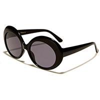 Retro Round Womens Sunglasses- Black
