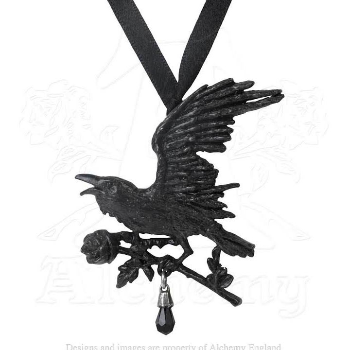 Harbinger Raven Pewter Necklace by Alchemy England 1977