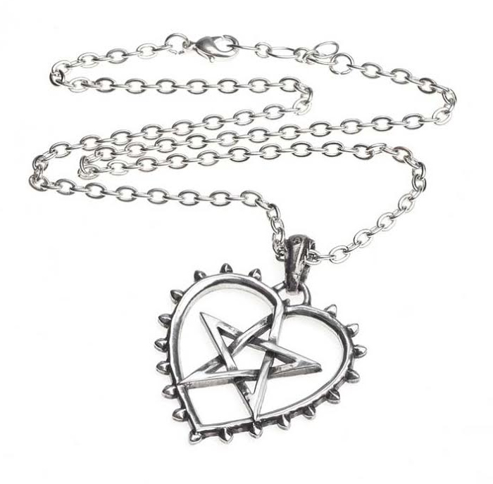 Cunning Heart Pentagram Necklace by Alchemy England 1977