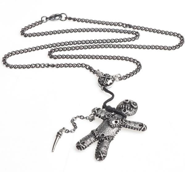 Voodoo Doll Pewter Necklace by Alchemy England 1977