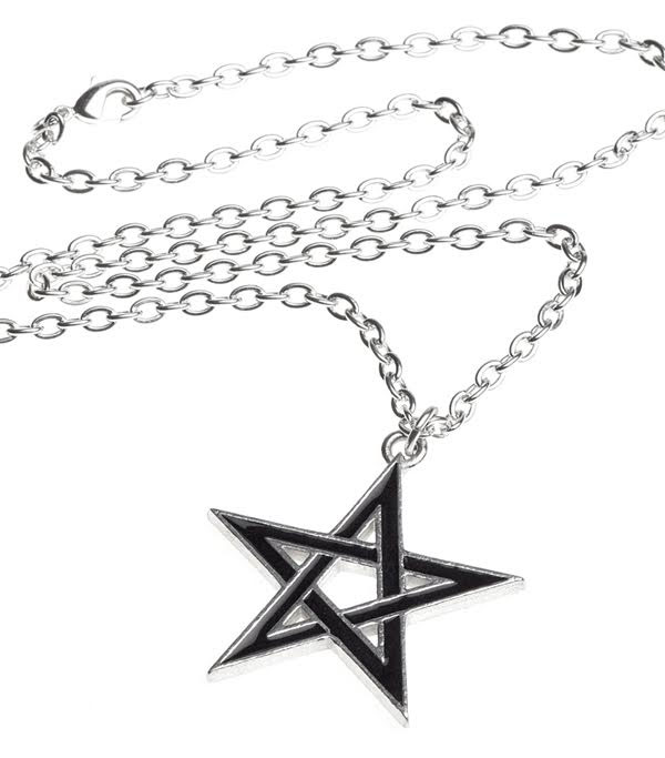 Black Star Pewter Unisex Necklace by Alchemy England 1977