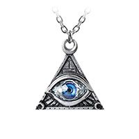 Eye of Providence Pewter Pendant Necklace by Alchemy England 1977