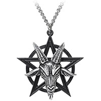 Baphomet Pendant Unisex Pewter Necklace by Alchemy England 1977