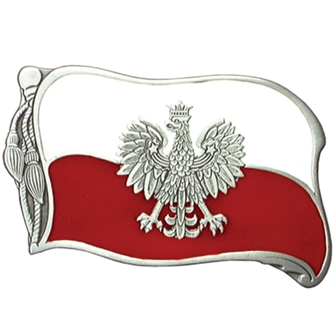 Polish Flag belt buckle (bb94)