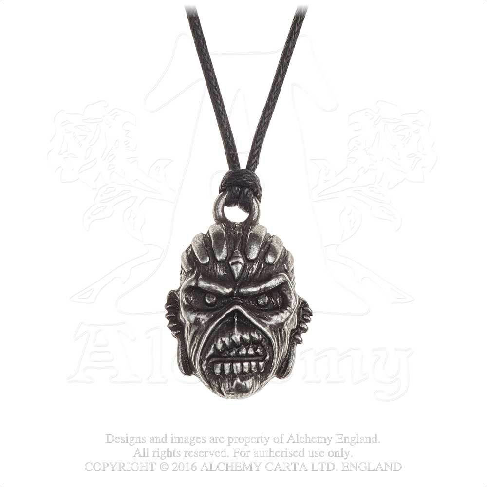 Iron Maiden Eddie - Book of Souls Pewter Necklace by Alchemy England 1977