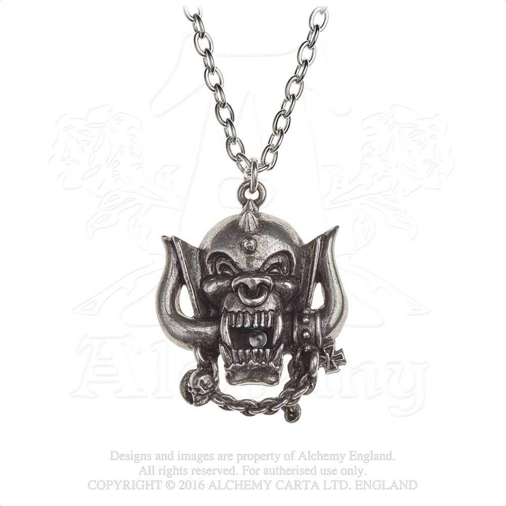 Motorhead War-Pig Pewter Necklace by Alchemy England 1977