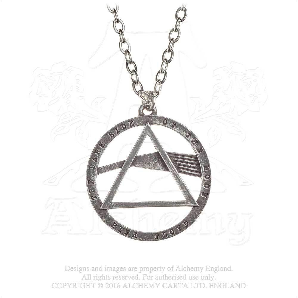 Dark Side of the Moon Pink Floyd Pewter Necklace by Alchemy England 1977