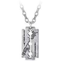 Judas Priest Razor-blade Pendant Pewter Necklace by Alchemy England 1977