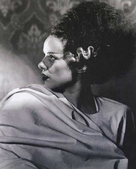 bride of frankenstein elsa lanchester profile fine art