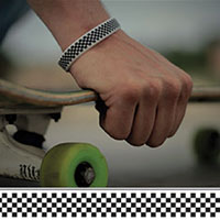 Check Yourself silicone bracelet by Punk Banz