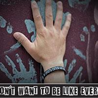 Attitude silicone bracelet by Punk Banz