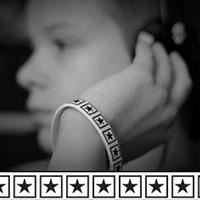 Black Star silicone bracelet by Punk Banz