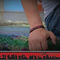 Cut Here silicone bracelet by Punk Banz
