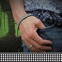 Dottie silicone bracelet by Punk Banz