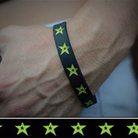 Green Star silicone bracelet by Punk Banz