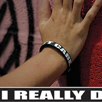 I Really Don't Care silicone bracelet by Punk Banz