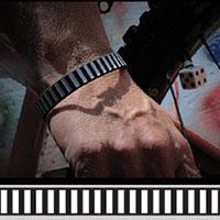 Off The Rails silicone bracelet by Punk Banz