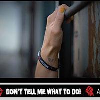 Rebel silicone bracelet by Punk Banz