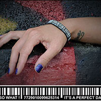 Scanned silicone bracelet by Punk Banz