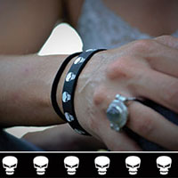 Skull Happy silicone bracelet by Punk Banz