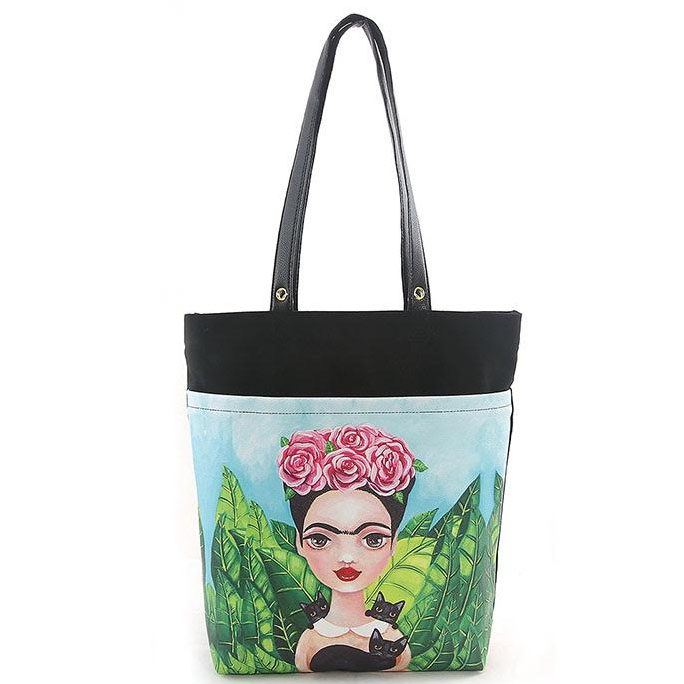 Frida & Black Cats Tote by Comeco