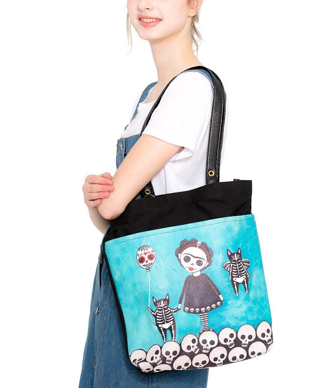 Lovely Girl Skele Frida Tote by Comeco