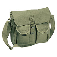 Canvas Ammo Shoulder Bag by Rothco- OLIVE