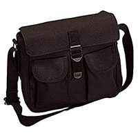 Canvas Ammo Shoulder Bag by Rothco- BLACK