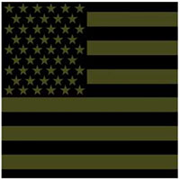 US Flag (Olive & Black) Bandana by Rothco