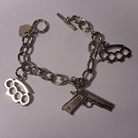 Weapons Charm Bracelet by Rock Rebel - SALE