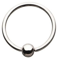 Surgical Grade Stainless Steel Captive Ring And Ball by Body Vibe